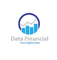 data financial logo designs vector image vector image