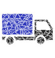 delivery lorry collage of triangles vector image vector image