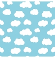 Different flat clouds on blue sky seamless pattern vector image vector image