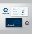 elephant abstract logo and business card vector image vector image