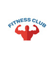 fitness club icon simple flat element from vector image vector image