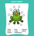 frog vocabulary part of body vector image vector image