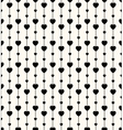 Geometric seamless pattern with hearts and circles vector image