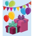 gift box with bow icon image vector image