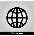 globe icon on grey background vector image vector image
