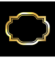 Gold frame simple golden black vector image vector image