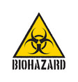 grunge biohazard symbol biohazard warning sign vector image