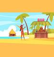 hawaii beach bar composition vector image vector image