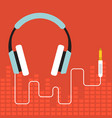 headphone flat design vector image vector image
