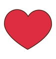 heart cartoon icon vector image