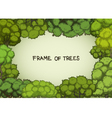 Horizontal frame of the cartoon deciduous trees vector image