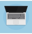 Laptop open in flat style top view concept vector image vector image