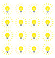 light bulb rotating rays animation sprite in flat vector image vector image