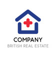 logotype template for british real estate company vector image