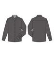 long sleeve shirts fashion flat sketch template13 vector image vector image