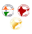 made in India stamp vector image vector image