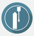 mascara icon on white circle with a long shadow vector image