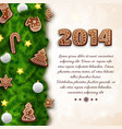 merry christmas greeting poster vector image vector image