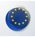 modern euro flag design vector image