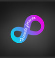 modern grdient infinity sign with friends forever vector image
