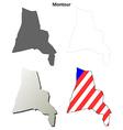 Montour Map Icon Set vector image vector image