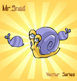 mr snail with principal vector image vector image