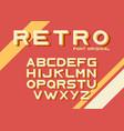 original vintage retro font vector image