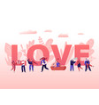 people in love concept happy couples in relations vector image vector image