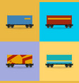 platform with container isolated vector image vector image