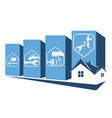 repair the house symbol vector image vector image