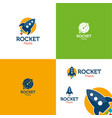 rocket pixels vector image vector image