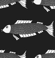 Seamless of fish background vector image