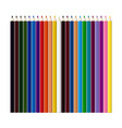 set of color pencils for drawing vector image vector image