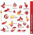set of fire design elements vector image