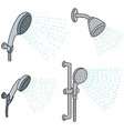 set of shower vector image vector image