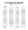 snowboard template empty clean white vector image vector image