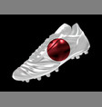 soccer football boot with the flag of japan vector image vector image