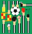 soccer referee design flat vector image vector image