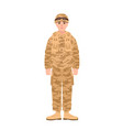 soldier of usa armed forces wearing combat uniform vector image vector image
