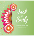 spring wedding background with beautiful flowers vector image
