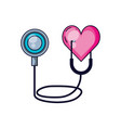 stethoscope medical with heart isolated icon vector image vector image