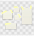 sticky paper notes pack collection set on vector image