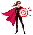 super heroine target vector image vector image