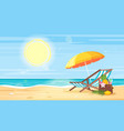 tropical island sea shore vector image