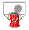 up board tin can shape on a cartoon vector image