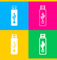 usb flash drive sign four styles of icon vector image vector image