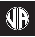 Va logo initial with circle line cut design