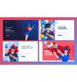 web design templates virtual reality vector image vector image