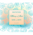 wedding on beach invitation design vector image vector image