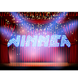 winner lettering stage vector image